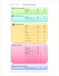 Free Household Budget Spreadsheet 6 Household Budget Templates Outline Templates