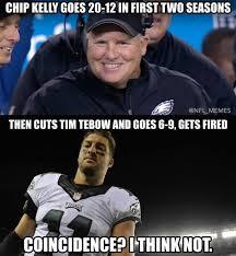 Tebow Meme - 22 best memes the philadelphia eagles firing chip kelly sportige