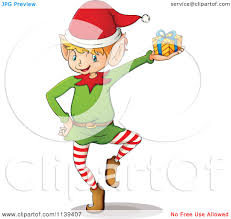 holding gift elf clipart explore pictures