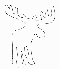 moose template creative ideas moose outline images clip vector