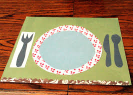in the meantime mama how to make laminated placemats fall craft