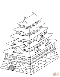 japanese castle coloring page free printable coloring pages