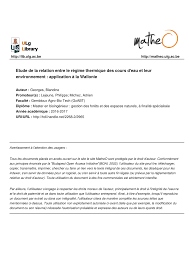 bureau ude thermique etude de la relation entre le régime pdf available