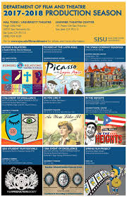 San Jose State University Map by Film U0026 Theatre Production Calendar Department Of Film And