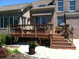 Stone Decks And Patios by Exterior Design Exciting Outdoor Design With Cozy Trex Decking