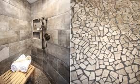 Rustic Tile Bathroom - whirlwind rustic bathroom renovation rubble tile minneapolis
