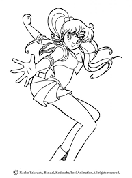 sailor moon skipping coloring pages hellokids