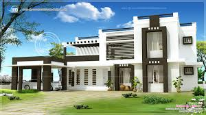 Luxury Home Design Kerala Download Flat Roof House Design Homecrack Com