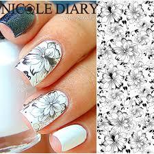 aliexpress com buy nicole diary 32 nail art water tattoo design