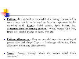 pattern making in metal casting manufacturing processes ppt video online download