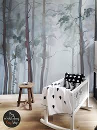 Watercolor Wallpaper For Walls by Nature Forest Wall Mural Peel And Stick Gloomy Trees