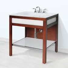 art deco 31 inch modern bathroom vanity tempered glass integrated top