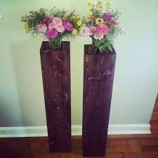Big Floor Vases Home Decor by Single Rustic Floor Vase With Interior Shelf Wooden Vase