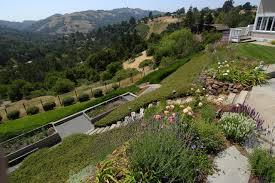Steep Hill Backyard Ideas Garden Design On A Steep Slope Best Idea Garden