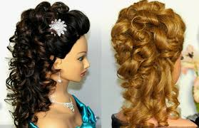bridal prom hairstyle for long hair curly hairstyle youtube