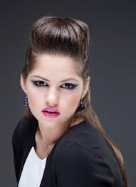 poof at the crown hairstyle wonderfully cool hairstyles for girls with medium hair