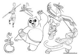 kung fu panda coloring pages fablesfromthefriends com