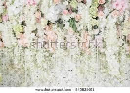 wedding backdrop photo wedding backdrop flower wedding decoration stock photo 540635491