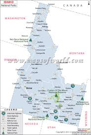 Alaska Cities Map by Buy Idaho National Parks Map
