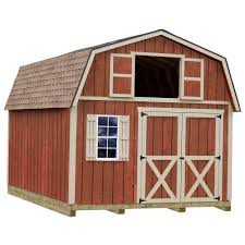 best barns millcreek 12 ft x 16 ft wood storage shed kit with