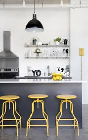 yellow and grey kitchen home design ideas