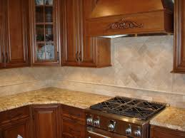 alluring natural stone tile kitchen backsplash features beige