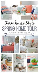 home tour celebrating spring with pops of coral town u0026 country