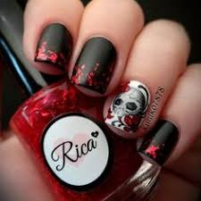 black and red nail google search harley quinn pinterest