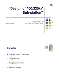 basic of 400kv substation design electrical substation