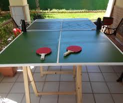 easy folding ping pong table 4 steps with pictures