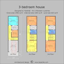 terraced house 13x50ft floor plans custom design services for you
