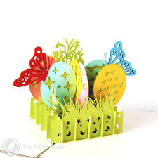 easter egg basket easter egg basket 3d pop up greeting card 6 50 3d pop up