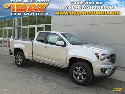 chevy colorado silver 2015 silver ice metallic chevrolet colorado z71 extended cab 4wd