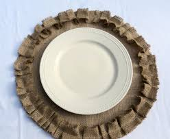 burlap placemats round burlap placemats with ruffles rustic zoom