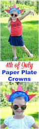 4th Of July Paper Plate Crown Simple Crafts Fashion Accessories