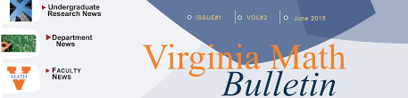 virginia math bulletin mathematics at the university of virginia