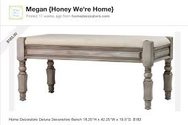 end of the bed bench honey we u0027re home