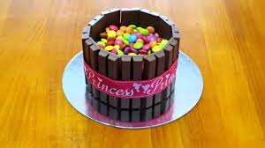 kit kat cake with smarties m u0026m u0027s for the beginning cake