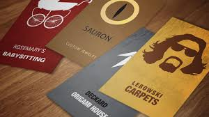 spot on business cards for 16 of s greatest characters