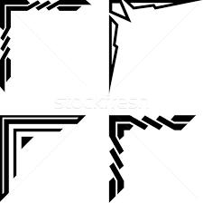set of original corner ornaments vector illustration mr vector