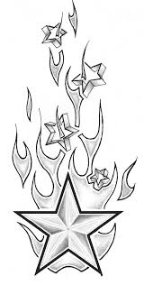 drawn flame tribal pencil and in color drawn flame tribal
