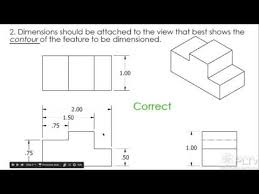 dimensioning a multiview sketch youtube