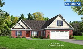 house plan 37 23 vtr house plans by garrell associates inc house plan 37 23 front elevation
