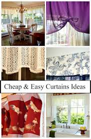 Window Valances Ideas Cheap And Easy Curtain Ideas Exquisitely Unremarkable