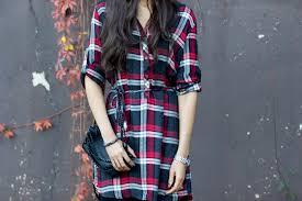the little plaid shirt dress the style contour
