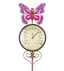 Patio Thermometer by Thermometer Stake Butterfly The Old Farmer U0027s Store