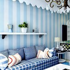 chambre peinte en bleu moderne chambre bleu et blanc bande verticale fonds d écran non
