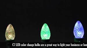 c7 led color change bulb demonstration youtube