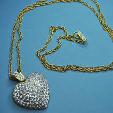 long heart pendant necklace images Shop large crystal heart pendant on wanelo jpg