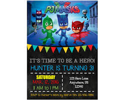 pj mask birthday invitations marialonghi